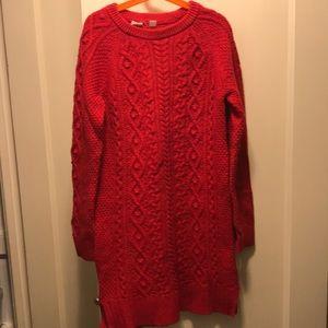 Gap kids red sweater dress size 12